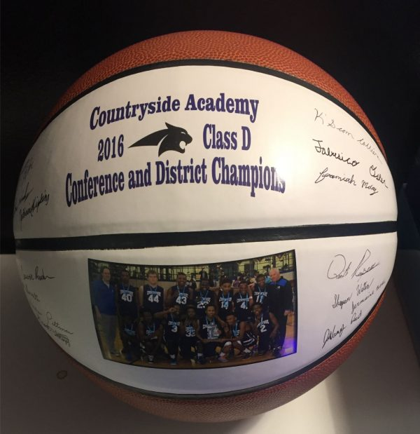 Basketball With Signatures