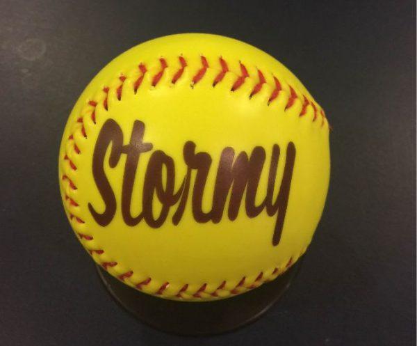 Stormy Softball Yellow Sample