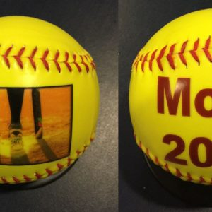 Custom Made Double Side Print Yellow Softballs